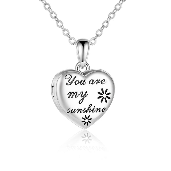 925 sterling silver you are my sunshine photo necklaces - onlyone