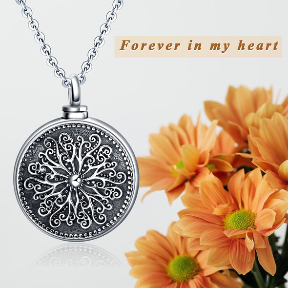 925 sterling silver Forever in my heart urn necklace Cremation Jewelry for Ashes - onlyone