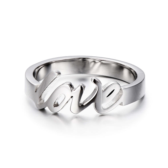 925 Sterling Silver Personalized Love Ring - onlyone