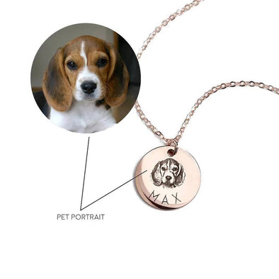 Pet Photo Engraved 2 Sides Coin Necklace - onlyone