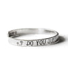"925 Sterling Silver Personalized Wildflower Cuff 6""-7.5"" Inspirational Bracelet - onlyone"