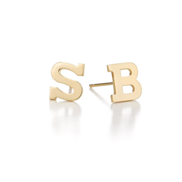 925 Sterling Silver Personalized Mixmatch Initial Alphabet Earrings - onlyone