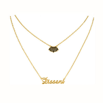 925 Sterling Silver Dissent Collar Necklace With Personalized Name Multilayer Necklace