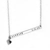 925 Sterling Silver Engraved Bar Custom Name Necklace With Heart Pandant Nameplate Necklace - onlyone