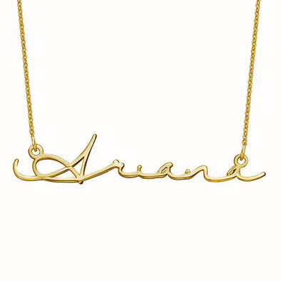 925 Sterling Silver Signature Style Name Necklace Nameplate Necklace In Mon Petit Font - onlyone