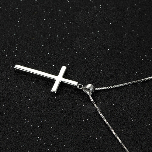 925 Sterling Silver Small Cross Pendant Necklace Cross Necklace For Women - onlyone