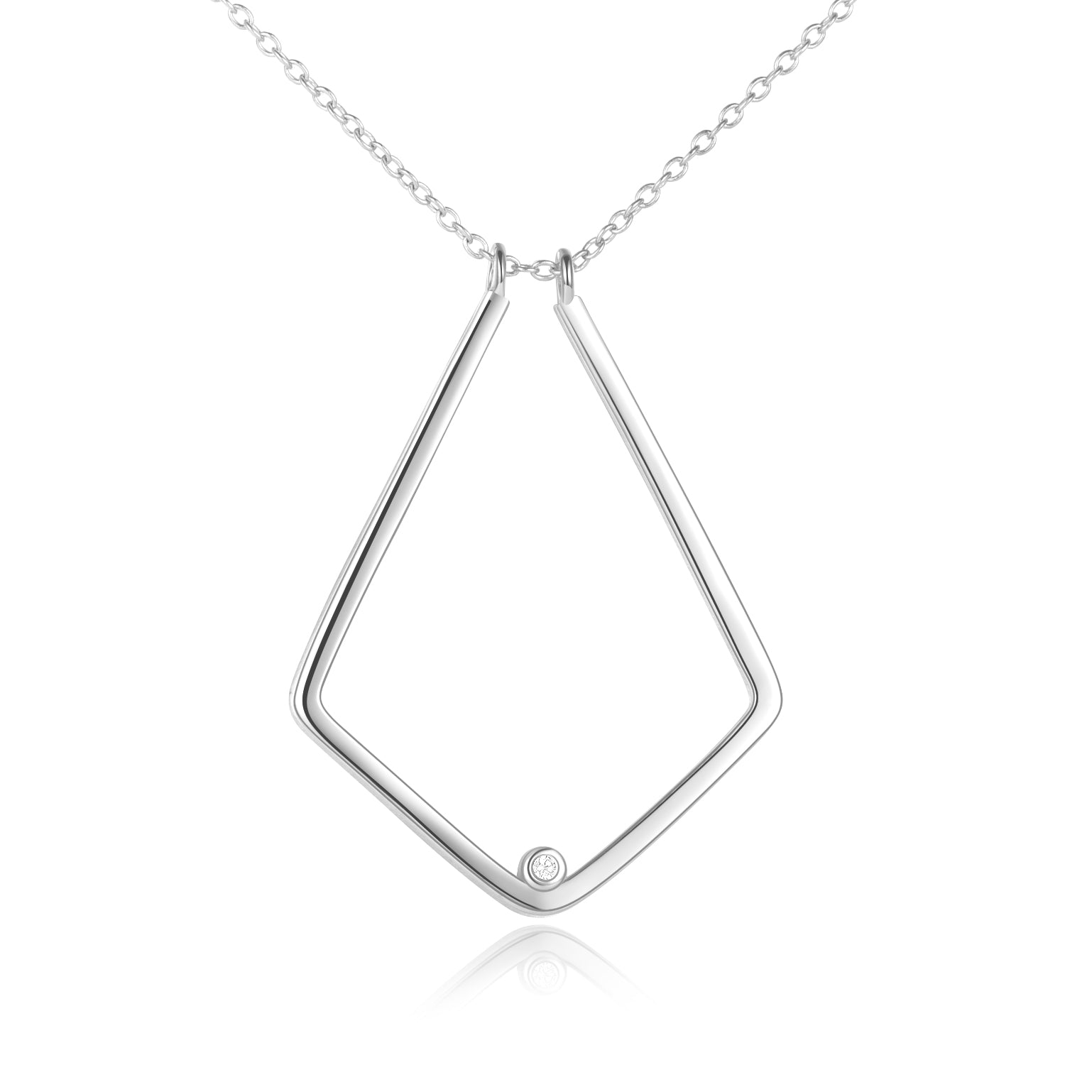 925 Sterling Silver Ring Holder Necklace, Ring Keeper - onlyone