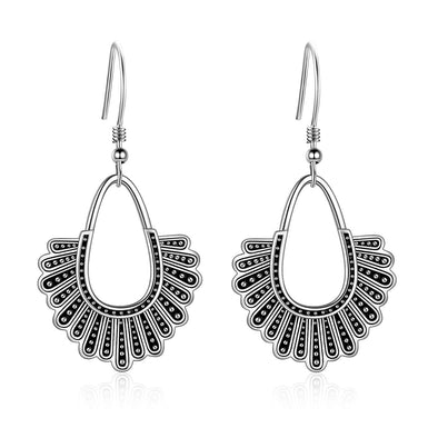 925 Sterling Silver Dissent Collar Chandelier Earrings, Ginsburg Earrings