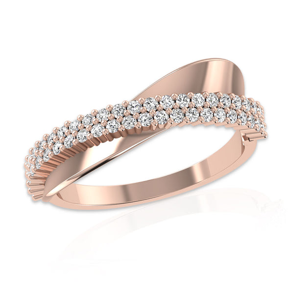 OnlyOne 18K Rose Gold Plated Cosmic Halo Ring Engagement Ring - onlyone