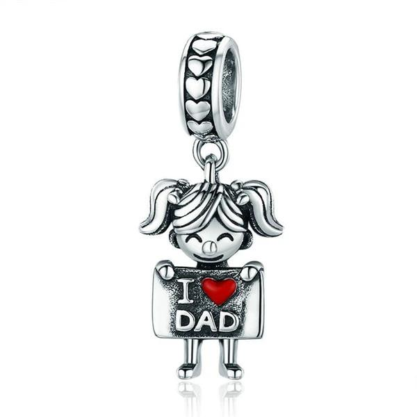 925 Sterling Silver Charms Bracelets Necklace Robot Pendant Jewelry Gift - onlyone
