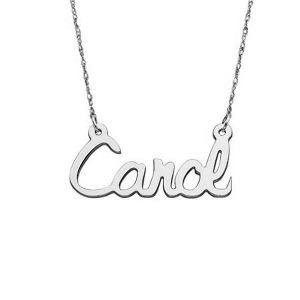 925 Sterling Silver Script Name Necklace Nameplate Necklace - onlyone