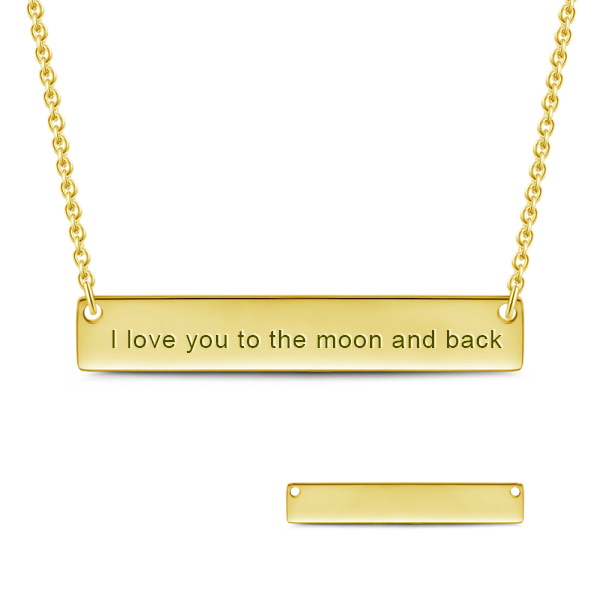 Engraved Bar Name Necklace