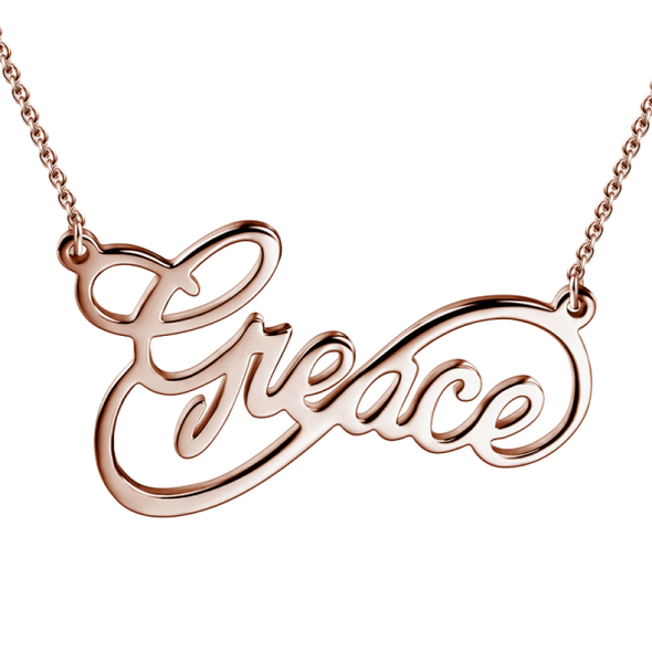 14K Gold Personalized Infinity Name Necklace   White Gold/Yellow Gold/Rose Gold - onlyone