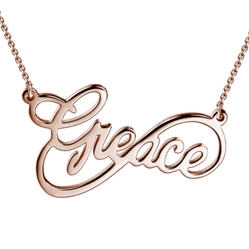 Infinity Name Necklace-Infinity Necklaces-YAFEINI-Rose Gold Plated-yafeini-personalized-custom-jewelry