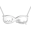 925 Sterling Silver Infinity Elephant Name Necklace Nameplate Necklace - onlyone