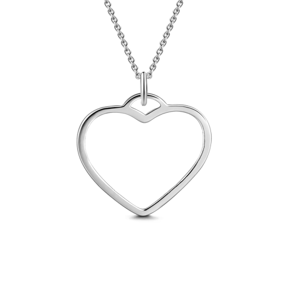 925 Sterling Silver Heart Name Necklace Nameplate Necklace - onlyone