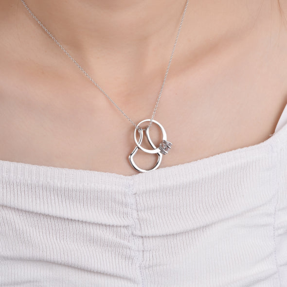 925 Sterling Silver Ring Holder Necklace Handmade Gift Nurse Jewelry Ring Keeper (Suitable for all rings up to size 8) - onlyone