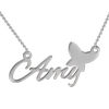 925 Sterling Silver Amy Style Name Necklace Nameplate Necklace - onlyone