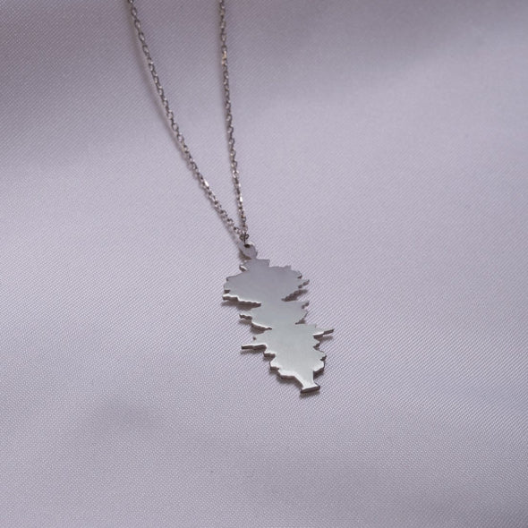 925 Sterling Silver Custom Sound Wave Necklace