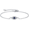 925 Sterling Silver Evil Eye Anklet Bracelet For Women, Gift For Her