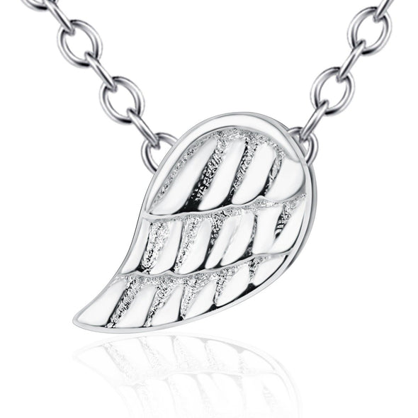 925 Sterling Silver Wing Of Angel Necklace - onlyone