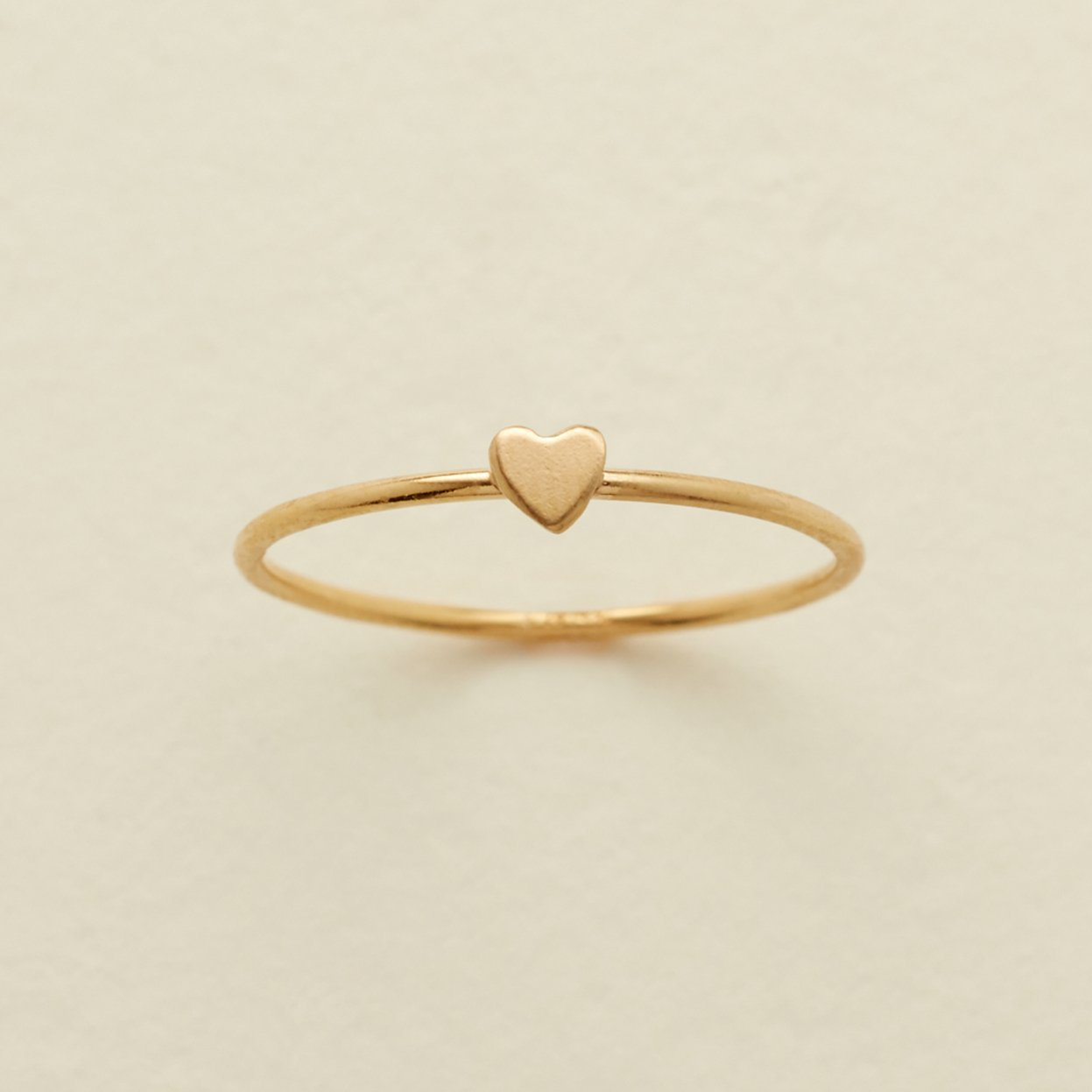 925 Sterling Silver Personalized Heart Ring Yellow Gold Plated - onlyone