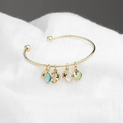 Birthstone Bracelet for Mom Mothers Day Personalized Gift Bracelet Aquamarine Jewelry - onlyone