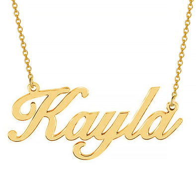 925 Sterling Silver Custom Script Kayla Name Necklace Nameplate Necklace, Gift For Her - onlyone