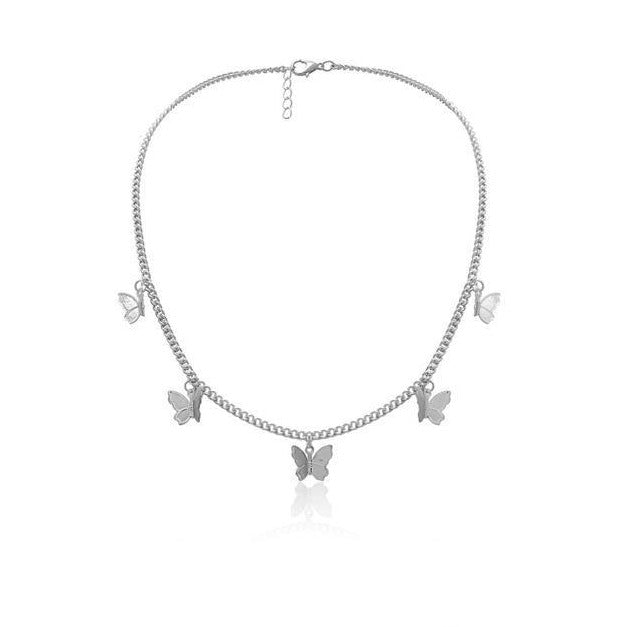 925 Sterling Silver Butterfly Chocker For Women - onlyone