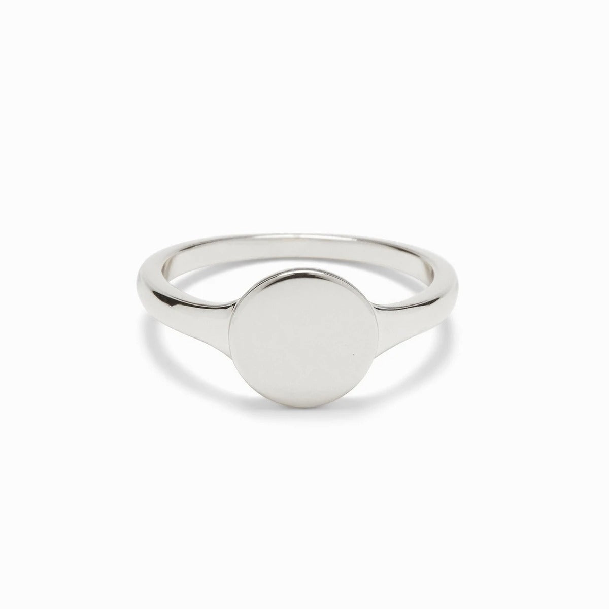925 Sterling Silver Round Engravable Signet Ring