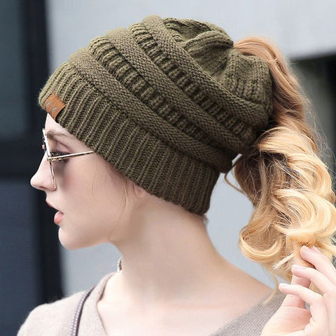 10675d34c40f0f NOTE: Many websites/sellers these days are selling cheap knockoffs or  replicas of CC™ Soft Knit Ponytail Beanies. Such products are made from  substandard ...