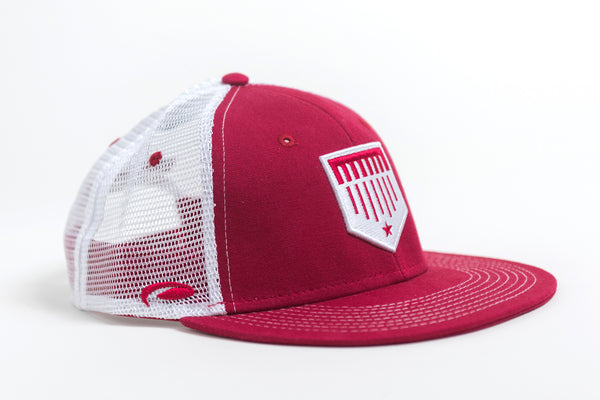 red mesh trucker hat image 1