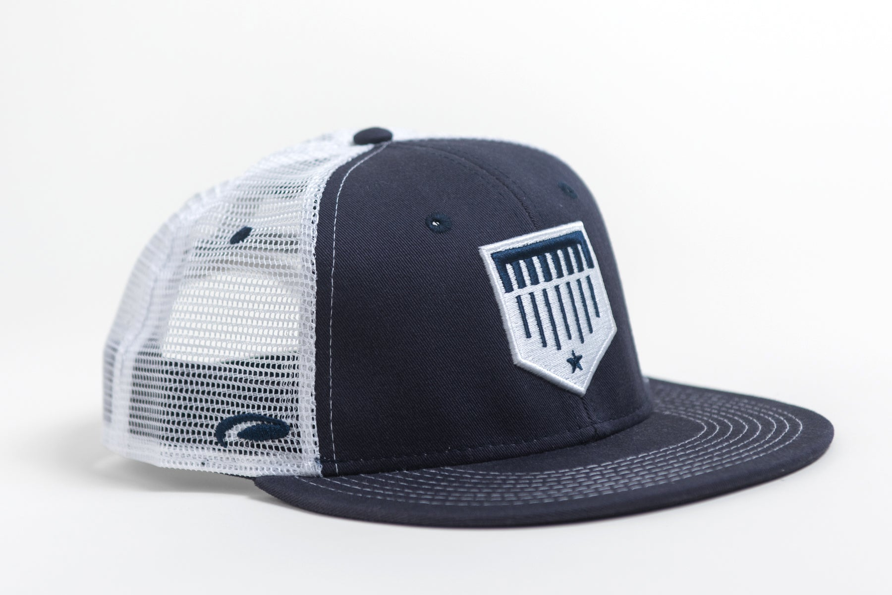 Navy Blue Mesh Trucker