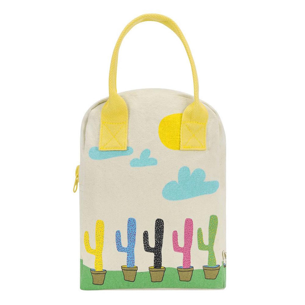 Zipper Lunch Bag - Cactus