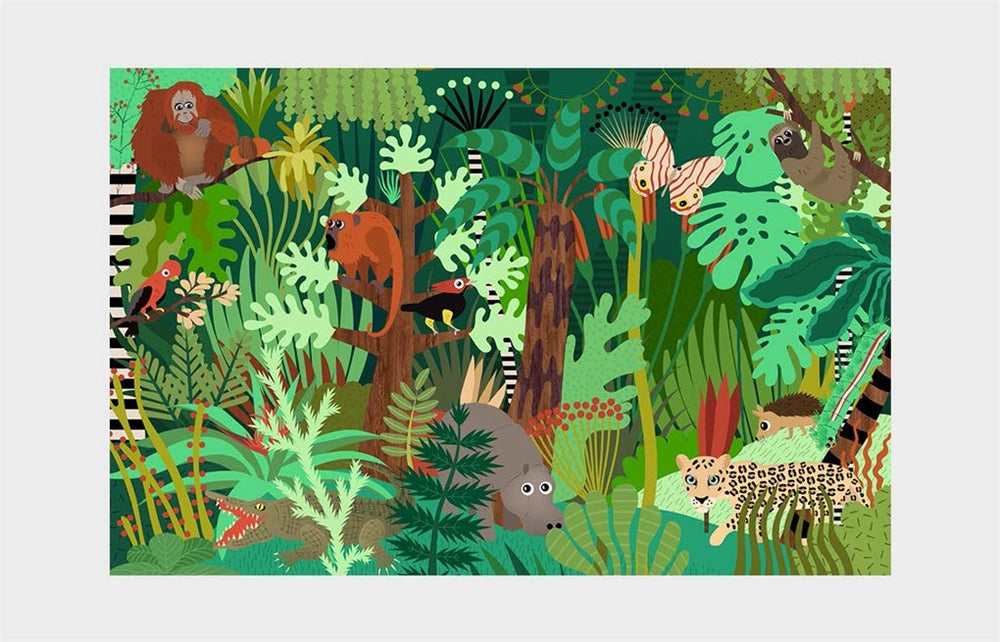 A spot and Match game - Who's Hiding in the Jungle?