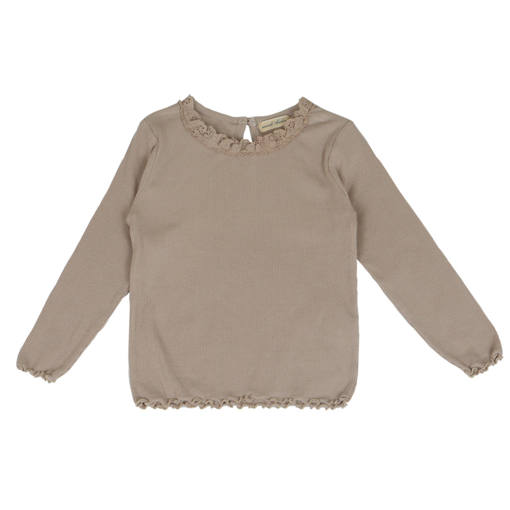 Brand: Bien a Bien Details: Round Laced neck, Long Sleeves, Ribbed,  Wear under a dress or shirt for extra warmth during colder days Composition: 94% Cotton, 6% Spandex Made in: Korea. # colours: cream ,beige and charcoal.