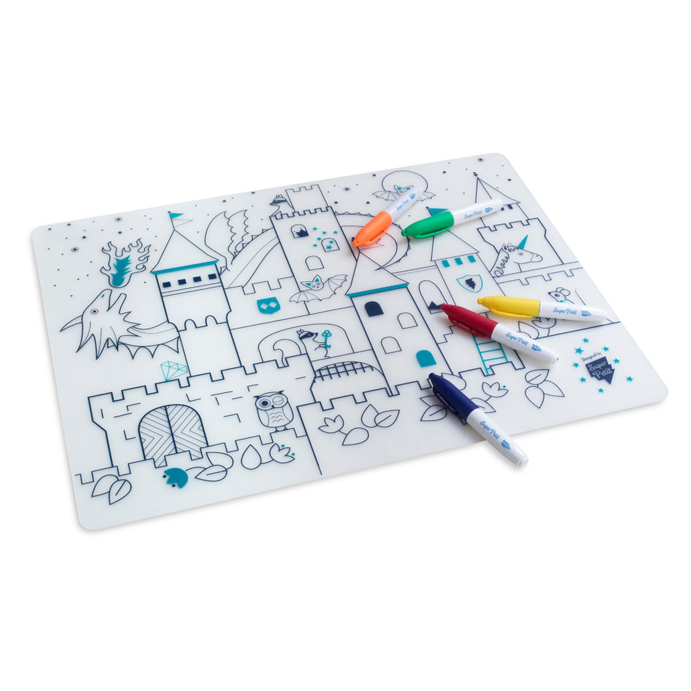 Super Petit colouring placemat - Castle