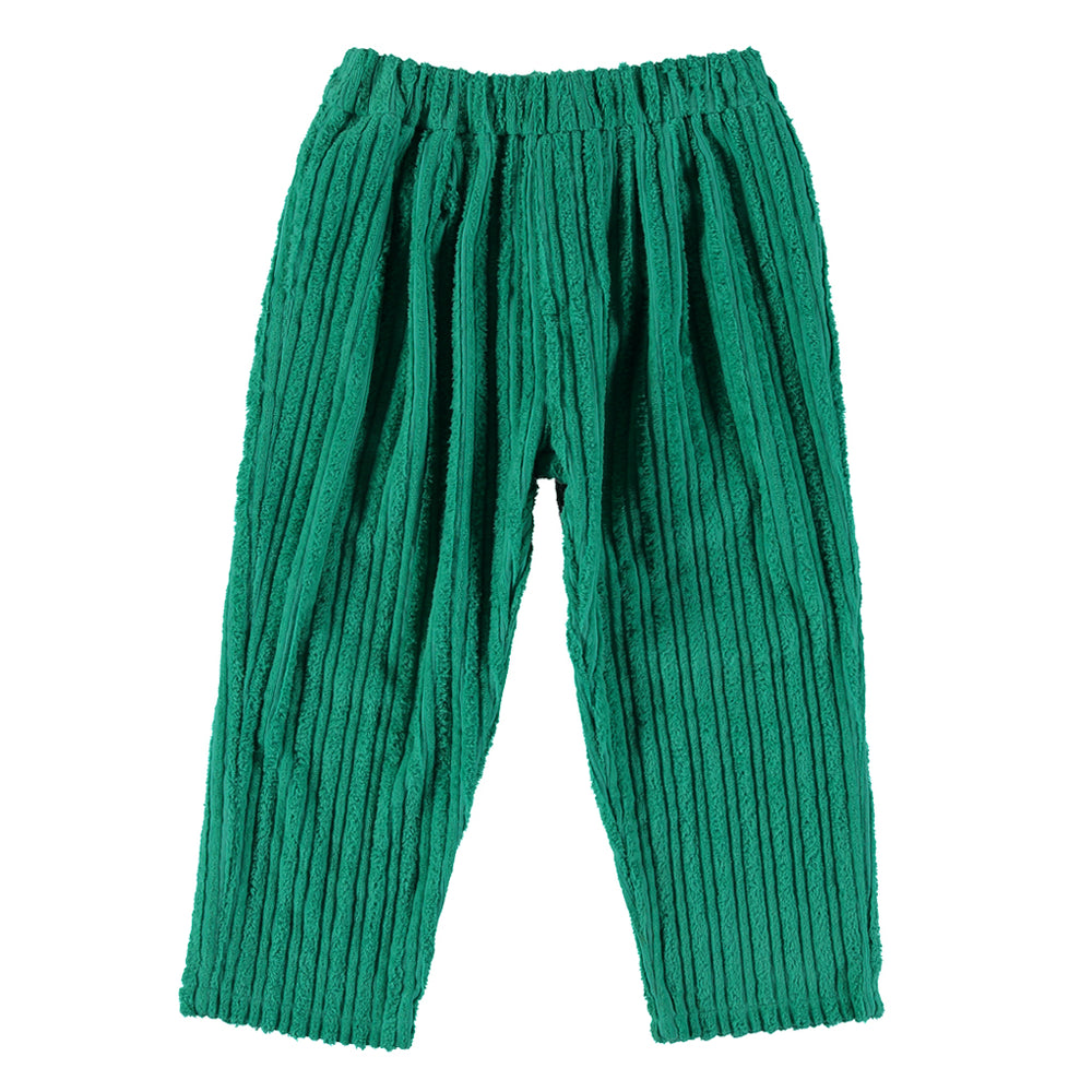 Ribbed Cactus pant from Fresh Dinosaurs in Cremme de Menthe colour. Unisex, Elastic waste, Soft touch. Made in Spain, 100% cotton.