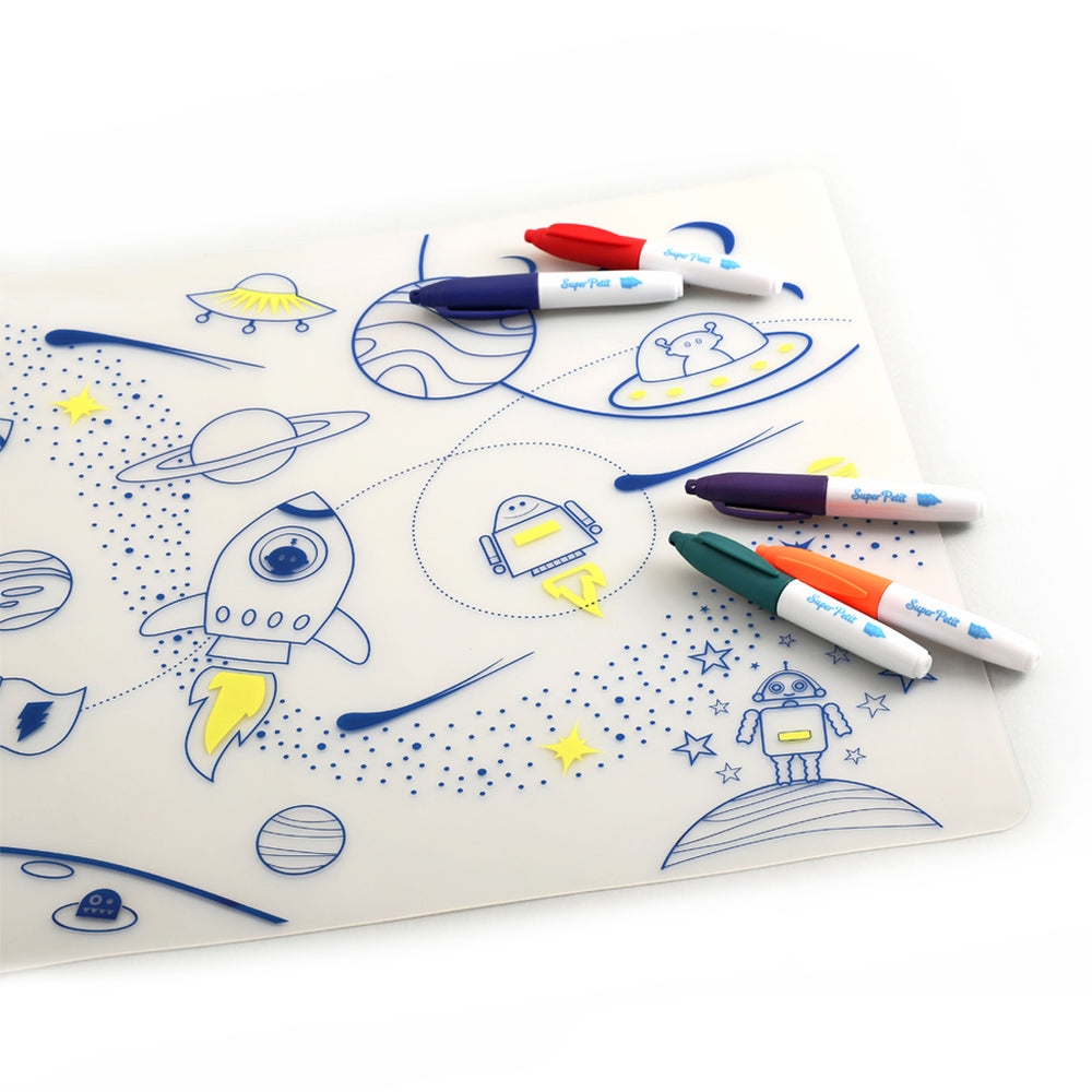 Super Petit colouring placemat - Into Space
