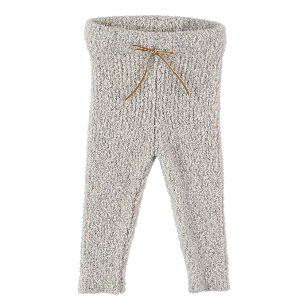 Jess terry knit leggings for babies. Brand: Búho Colour: Ecru Details:  Elastic waste, Front bow, Soft and cozy Composition: 70% Polyacrylic, 20% Polyamide, 10% Elastane Made in: Spain