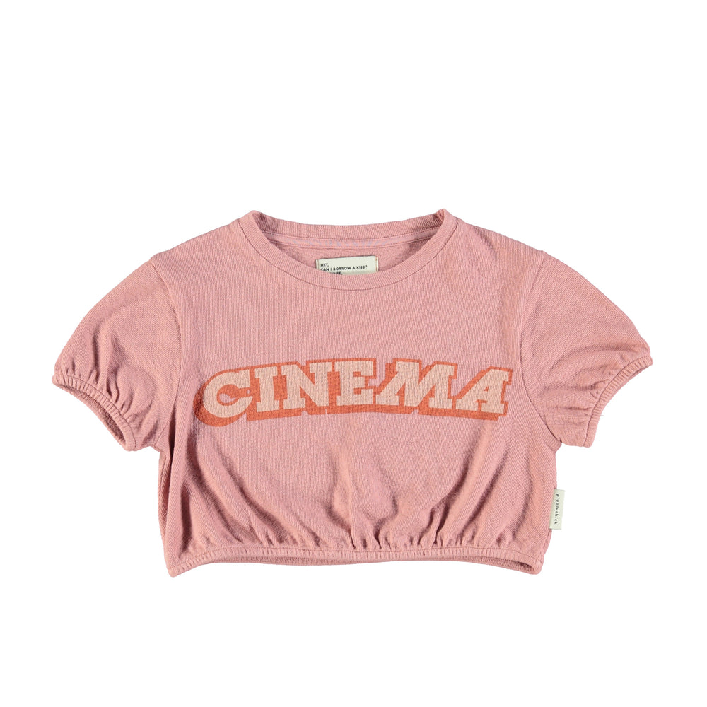 Organic cotton T-shirt with a print 'Cinema'