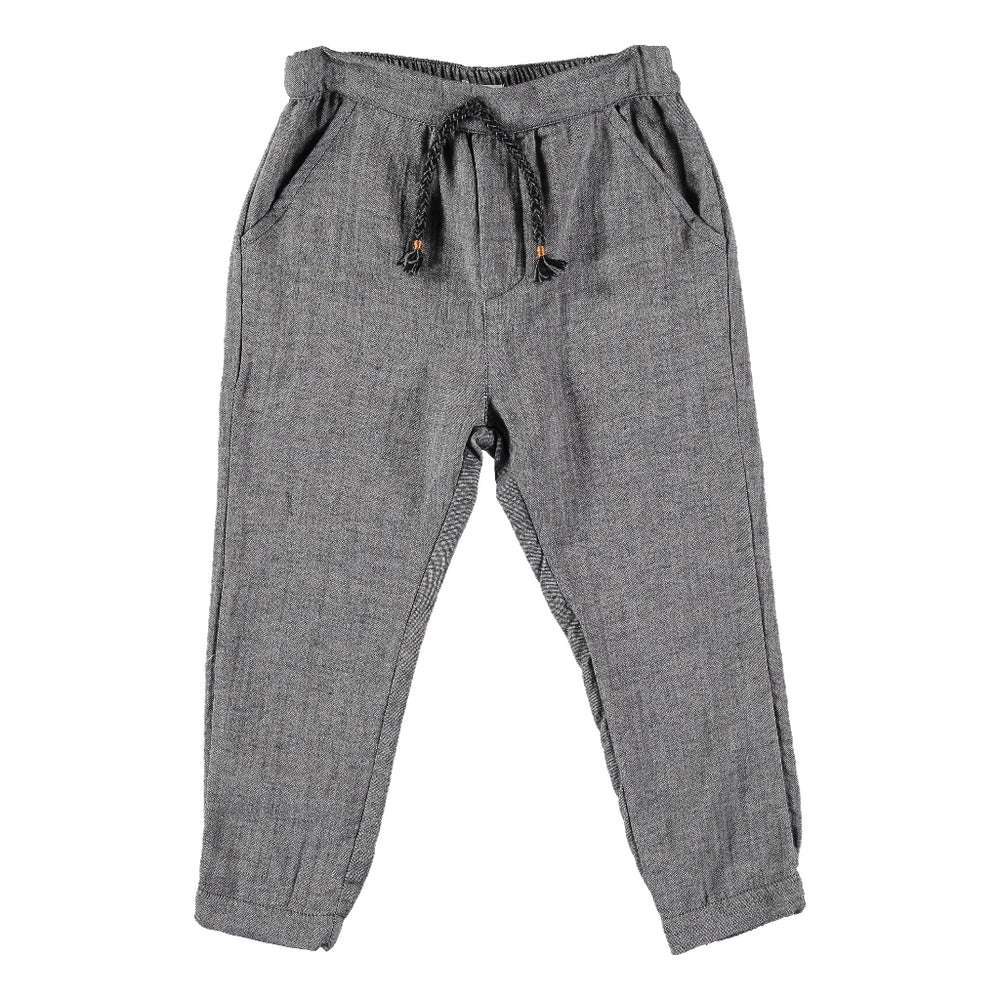 Fran double face pant. Brand: Búho Colour: Grey Vigo  Details: Interior drawstring, Side pockets, Elasticated back, Thick cotton fabric Composition: 100% Cotton Made in: Spain
