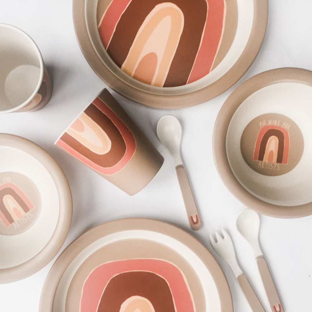 "Bamboo Tableware set ""Rainbow"""