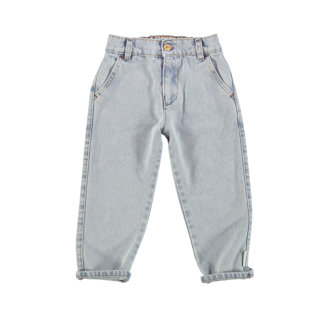 Unisex jeans washed denim