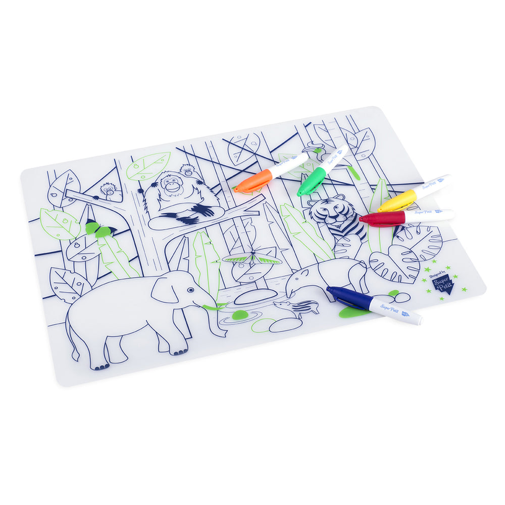 Super Petit colouring placemat - Jungle