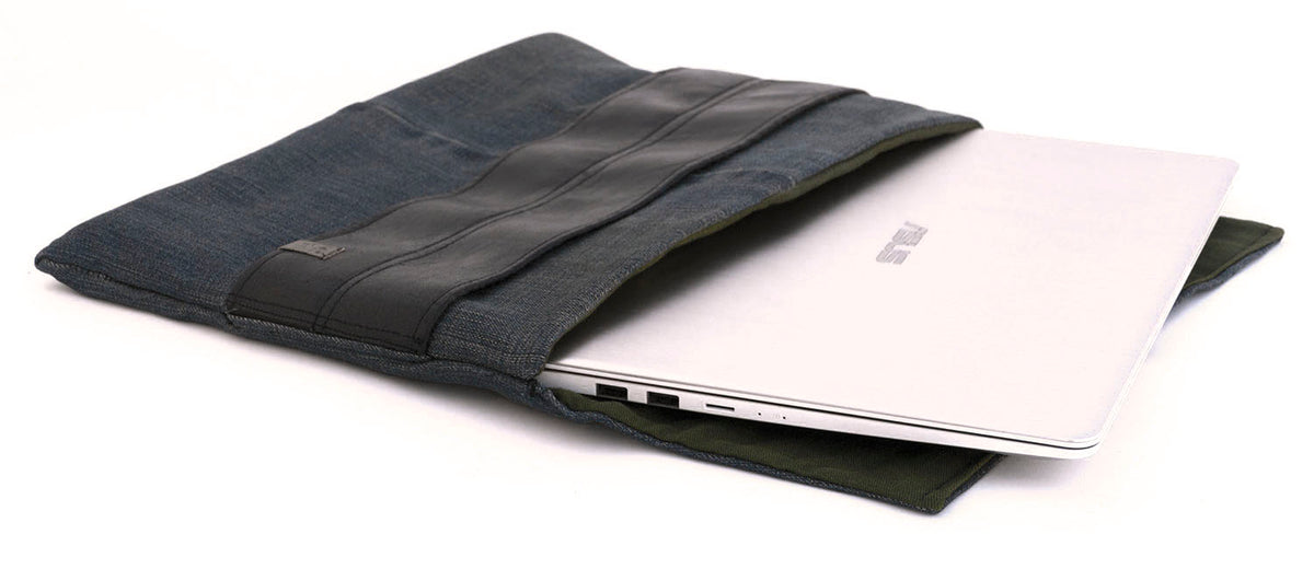 personalized denim laptop cover