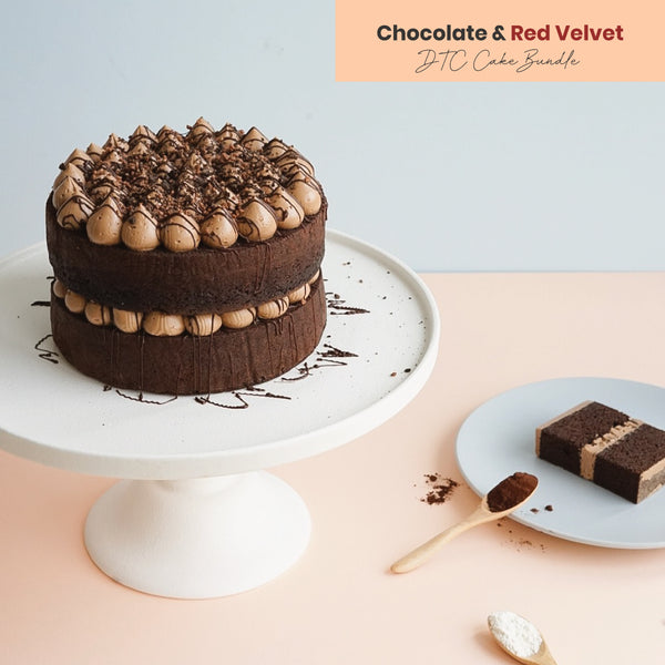 Chocolate & Red Velvet DTC Cake Bundle