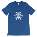 white snowflake - bella + canvas unisex