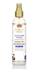 African Pride Moisture Miracle Coconut Milk & Honey Hydrate & Shine Leave-In Conditioner 8oz