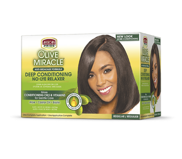 African Pride Olive Miracle Deep Conditioning No-Lye Relaxer Regular